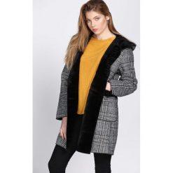 Szaro-Czarny Płaszcz Regularly. Czarne płaszcze damskie zimowe Born2be, l. Za 209,99 zł.