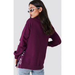 NA-KD Bluza z rozcięciami - Purple. Fioletowe bluzy rozpinane damskie NA-KD, z haftami, z długim rękawem, długie. Za 161,95 zł.