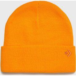 Converse - Czapka. Brązowe czapki zimowe męskie Converse, na zimę, z dzianiny. Za 89,90 zł.