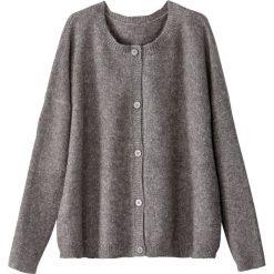 Swetry damskie: Kardigan zapinany na guziki okrągły kołnierz