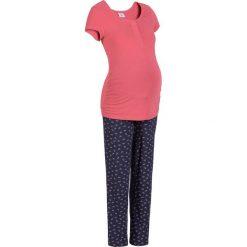 Piżama dla karmiących bonprix dymny malinowy - niebieski. Czerwone piżamy damskie bonprix. Za 79,99 zł.