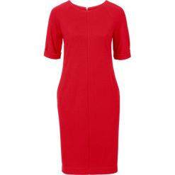 Sukienka bonprix czerwony. Czerwone sukienki dzianinowe bonprix. Za 59,99 zł.