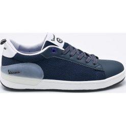 Vespa - Tenisówki. Niebieskie tenisówki męskie marki Vespa, z gumy, na sznurówki. W wyprzedaży za 219,90 zł.