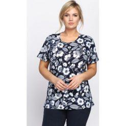 Granatowy T-shirt Fondness. Niebieskie bluzki damskie Born2be. Za 24,99 zł.
