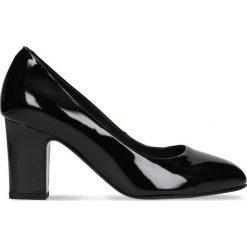 Czółenka LENA. Czarne buty ślubne damskie Gino Rossi, z lakierowanej skóry, na wysokim obcasie, na słupku. Za 224,95 zł.