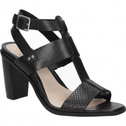 SANDAŁY CLARKS IMAGE CRUSH 26115473. Czarne sandały damskie marki Clarks, z materiału. Za 239,99 zł.