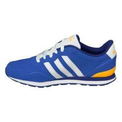 Buciki niemowlęce: Adidas Buty juniorskie V Jog Kids niebieskie r. 38 2/3 (AW4835)