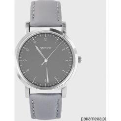 Zegarek - Simple Elegance - szary, skórzany. Szare zegarki damskie Pakamera. Za 139,00 zł.