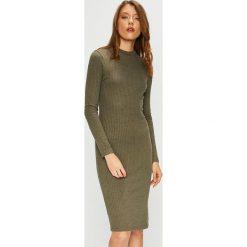 Trendyol - Sukienka. Szare długie sukienki marki Trendyol, na co dzień, z elastanu, casualowe, dopasowane. Za 79,90 zł.
