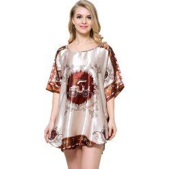 Koszule nocne i halki: Koszula nocna w kolorze brązowym