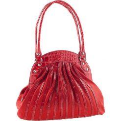 Torebki klasyczne damskie: Skórzana torebka w kolorze czerwonym – 42 x 34 x 9 cm