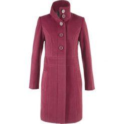 Płaszcz bonprix czerwony purpurowy. Fioletowe płaszcze damskie bonprix. Za 169,99 zł.