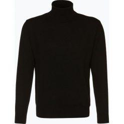 Golfy męskie: Andrew James – Sweter męski z czystego kaszmiru, czarny