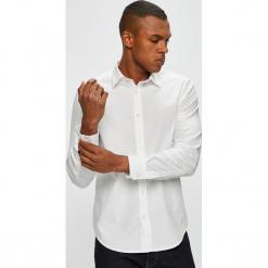 Diesel - Koszula. Szare koszule męskie na spinki Diesel, l, z bawełny, z klasycznym kołnierzykiem, z długim rękawem. Za 469,90 zł.