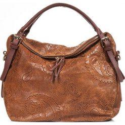 Torebki klasyczne damskie: Skórzana torebka w kolorze brązowym – 50 x 40 x 16 cm