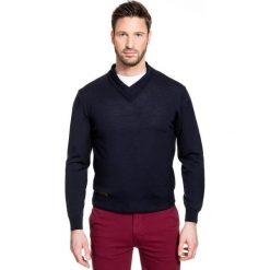 Sweter ROCCO 15-60SR. Białe swetry klasyczne męskie marki INESIS, m, z bawełny, z długim rękawem. Za 299,00 zł.