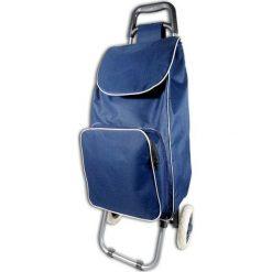 Torba w kolorze niebieskim na kółkach - 35 l. Niebieskie torebki klasyczne damskie Jocca, z materiału. W wyprzedaży za 69,95 zł.