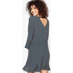 Długie sukienki: Prosta sukienka z nadrukiem, dekolt z tyłu CALLISTE