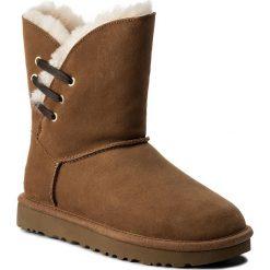 Buty UGG - W Constantine 1018629 W/Che. Szare buty zimowe damskie marki Ugg, z materiału, z okrągłym noskiem. W wyprzedaży za 509,00 zł.
