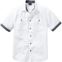 Koszula z krótkim rękawem bonprix biały. Białe koszule męskie na spinki bonprix, m, z kontrastowym kołnierzykiem, z krótkim rękawem. Za 54,99 zł.