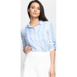 Jasnoniebieska Koszula About Me. Białe koszule wiązane damskie Born2be, w paski. Za 49,99 zł.