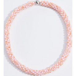Naszyjniki damskie: Naszyjnik z koralików - Różowy