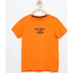 T-shirty chłopięce: Bawełniany t-shirt z napisem – Pomarańczo