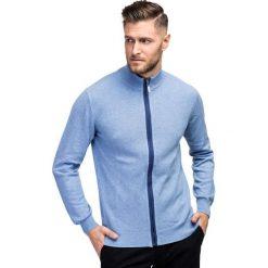 Sweter ABRAMO SWNR000191. Niebieskie swetry rozpinane męskie marki Giacomo Conti, m, z tkaniny, klasyczne. Za 229,00 zł.