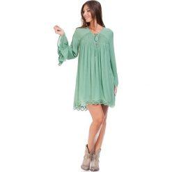 Bluzki asymetryczne: Bluzka w kolorze zielonym