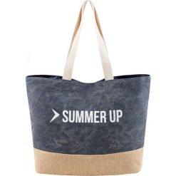 Torba plażowa TPL600 - granatowy melanż - Outhorn. Niebieskie torby plażowe Outhorn, z bawełny. W wyprzedaży za 24,99 zł.