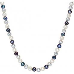 Naszyjnik z pereł w kolorze biało-srebrno-granatowym. Białe naszyjniki damskie marki Sinsay. W wyprzedaży za 204,95 zł.