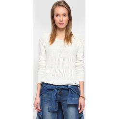 Swetry oversize damskie: SWETER DŁUGI RĘKAW DAMSKI LUŹNY, W SEREK