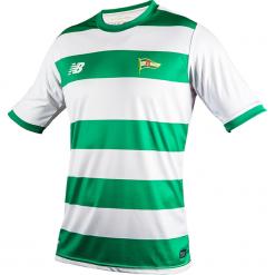 Koszulka Jr Lechia Gdańsk - EJT7006WG. Czarne koszulki do piłki nożnej męskie marki B'TWIN, na jesień, m, z elastanu. Za 159,99 zł.