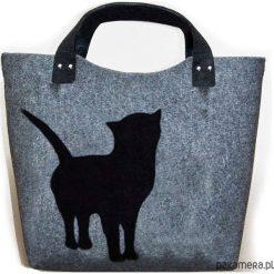 Filcowa torba zakupy. Szare shopper bag damskie Pakamera, do ręki, duże. Za 66,00 zł.