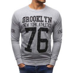 Bluzy męskie: Bluza męska z nadrukiem szara (bx1330)