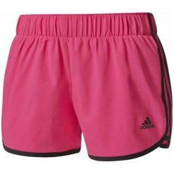 """Adidas Spodenki m10 Short Woven Shock Pink /Black M 3"""". Czarne spodenki sportowe męskie marki Adidas, ze skóry, sportowe. W wyprzedaży za 89,00 zł."""