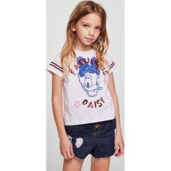 Mango Kids - Top dziecięcy Daisyra 110-164 cm. Szare bluzki dziewczęce Mango Kids, z aplikacjami, z bawełny, z okrągłym kołnierzem. Za 59,90 zł.