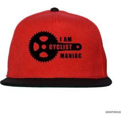 Czapka FullCap Maniac. Czerwone czapki z daszkiem damskie marki Pakamera, z nadrukiem. Za 69,00 zł.