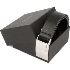 Pasek Męski CALVIN KLEIN - Mino Plaque Belt K50K500758 90 001. Czarne paski męskie marki Calvin Klein, w paski, ze skóry. W wyprzedaży za 179,00 zł.