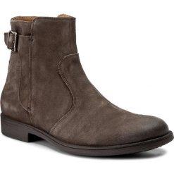 Kozaki GEOX - U Jaylon A U74Y7A 00022 C6372 Mud. Szare buty zimowe męskie Geox, ze skóry, za kostkę, z paskami. W wyprzedaży za 319,00 zł.