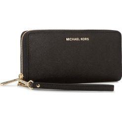 Duży Portfel Damski MICHAEL MICHAEL KORS - Jet Set Travel 32S5GTVE9L  Black. Żółte portfele damskie marki MICHAEL Michael Kors, ze skóry. W wyprzedaży za 499,00 zł.