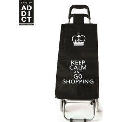 Wózek zakupowy w kolorze czarnym - 35,5 x 95 x 32,5 cm. Czarne shopper bag damskie Clean & Co., z tkaniny. W wyprzedaży za 65,95 zł.