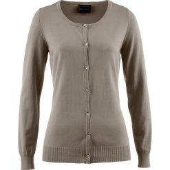 Sweter rozpinany bonprix brunatny. Brązowe kardigany damskie marki bonprix. Za 59,99 zł.