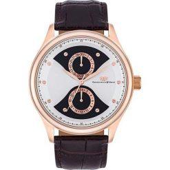 """Zegarki męskie: Zegarek kwarcowy """"Calador"""" w kolorze brązowo-różowozłoto-białym"""