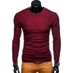 SWETER MĘSKI E115 - BORDOWY. Zielone swetry klasyczne męskie marki Ombre Clothing, na zimę, m, z bawełny, z kapturem. Za 39,00 zł.