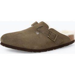 Birkenstock - Sandały damskie ze skóry – Boston Fur, zielony. Szare sandały damskie marki Birkenstock, z materiału. Za 529,95 zł.
