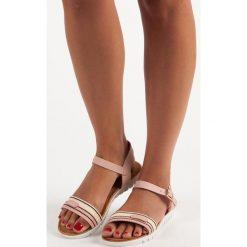 CASUALOWE DAMSKIE SANDAŁY - odcienie różu. Czerwone sandały damskie TOP SHOES. Za 49,90 zł.