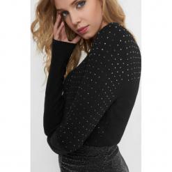 Dopasowany sweter z koralikami. Brązowe swetry rozpinane damskie marki Orsay, s, z dzianiny. Za 89,99 zł.