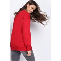 Bluzy damskie: Czerwona Bluza Something Right