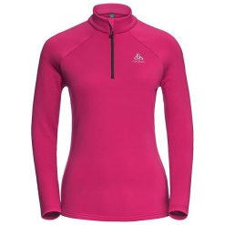 Odlo Bluza damska Midlayer 1/2 zip Snowbird różowa r. L (222001). Czerwone bluzy sportowe damskie marki Odlo, l. Za 90,90 zł.
